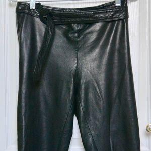 Vintage Gianni Versace leather moto pants
